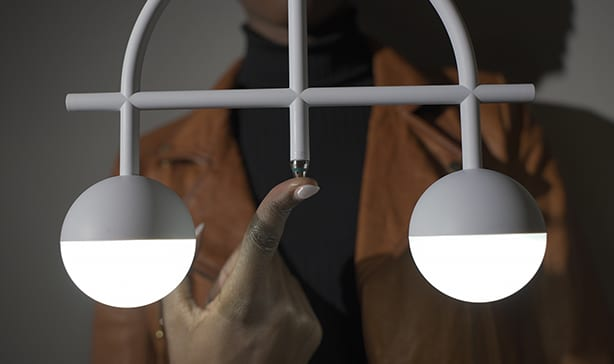 Lybra Lamp can self-balance on ANY surface 12