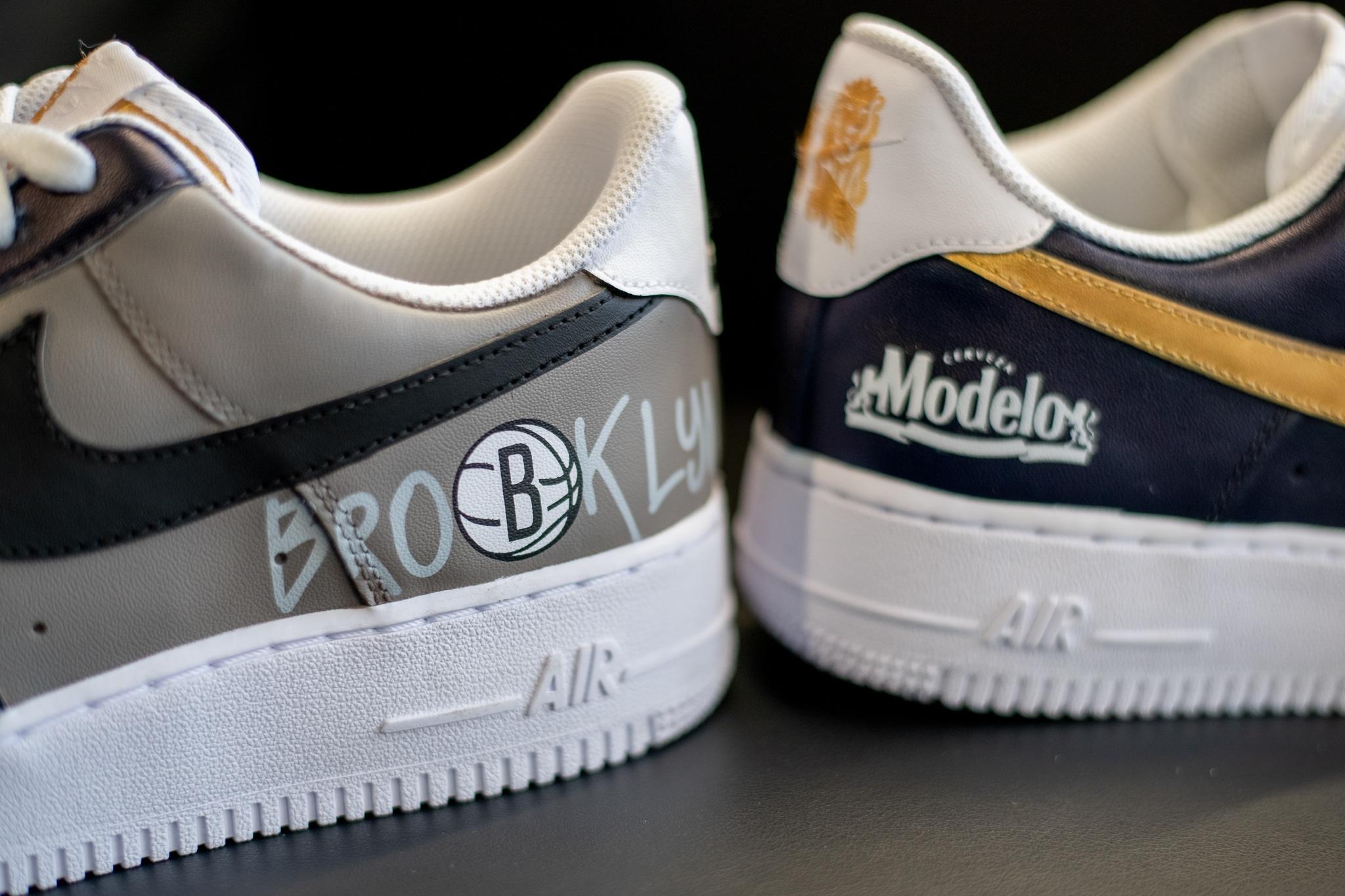 Modelo is giving away Brooklyn Nets sneakers designed by Mache 16