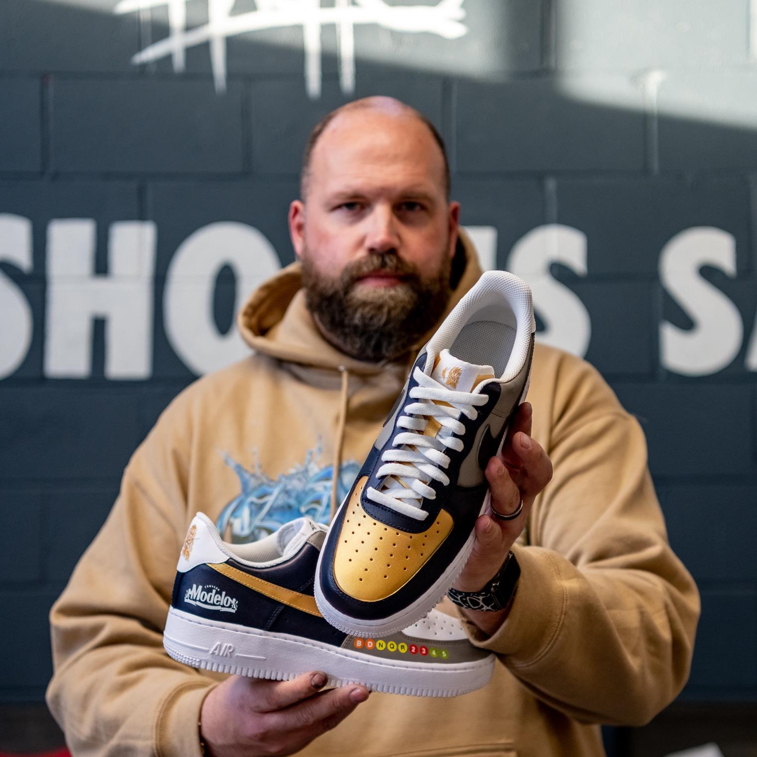 Modelo is giving away Brooklyn Nets sneakers designed by Mache 14