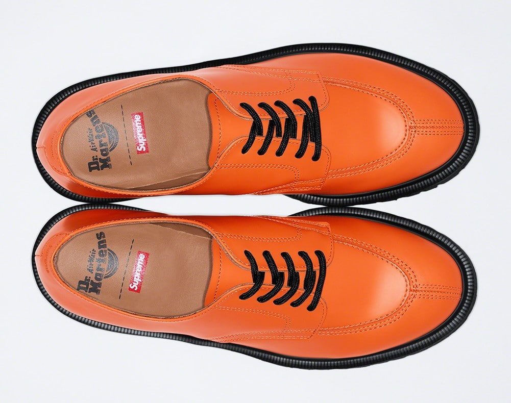 Supreme teams up with Dr. Martens for three bold iterations of the 5-Eye Shoe 15