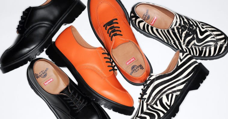 Supreme teams up with Dr. Martens for three bold iterations of the 5-Eye Shoe 11
