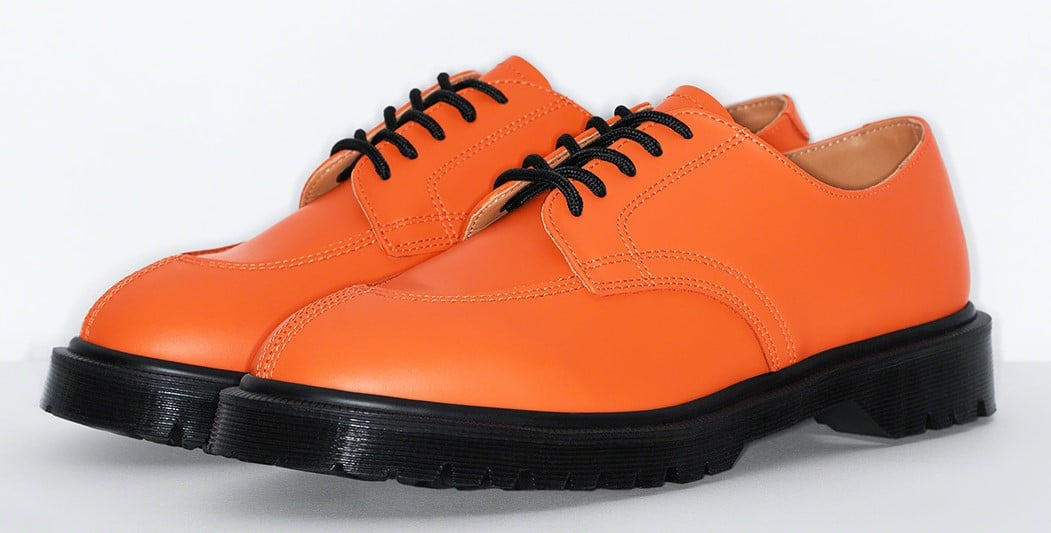 Supreme teams up with Dr. Martens for three bold iterations of the 5-Eye Shoe 14