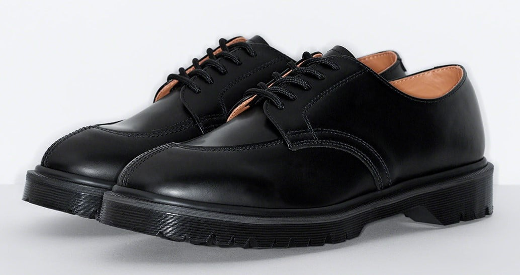 Supreme teams up with Dr. Martens for three bold iterations of the 5-Eye Shoe 16