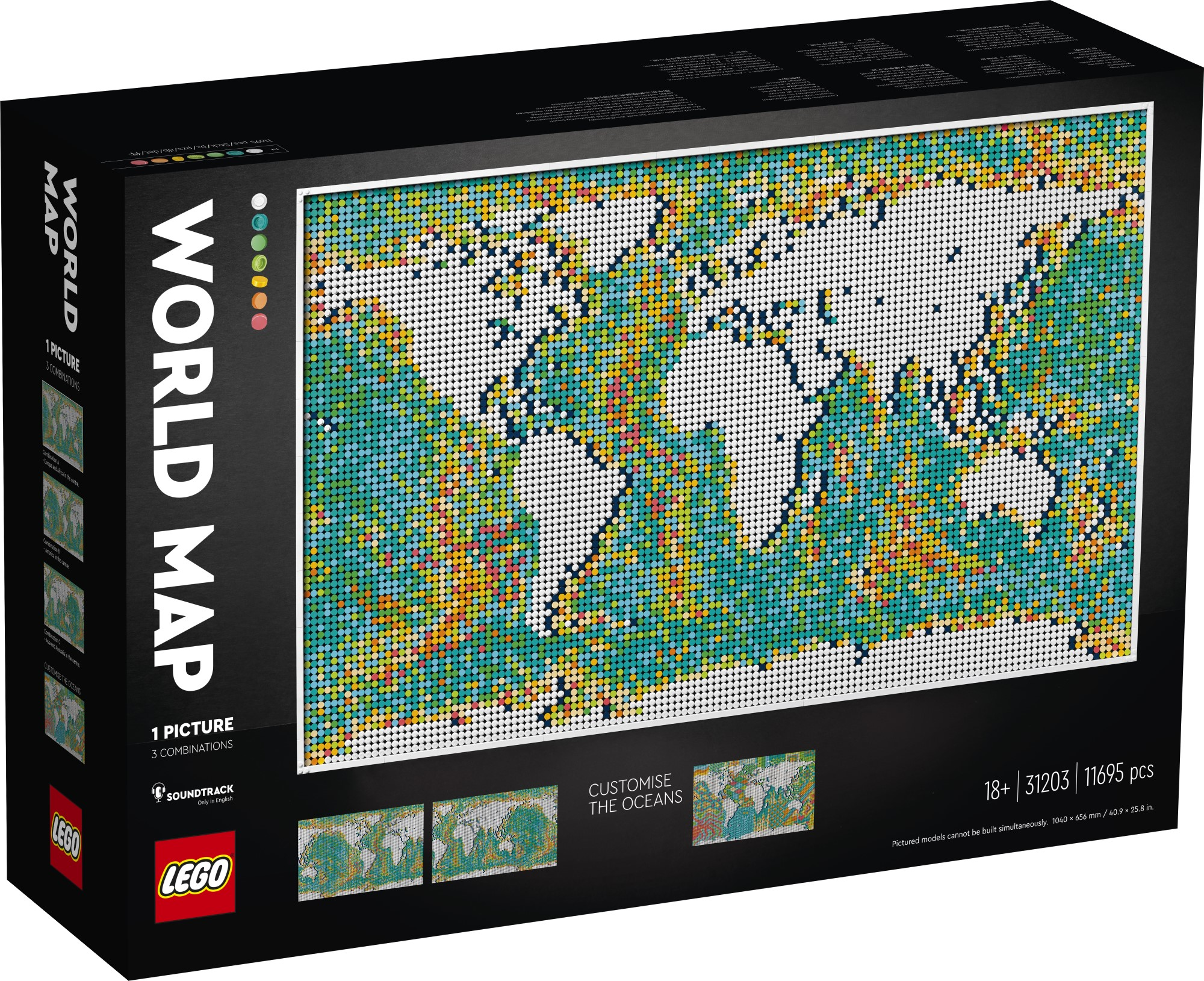 LEGO Art World Map helps fans reminisce about past travels and plan new trips 21