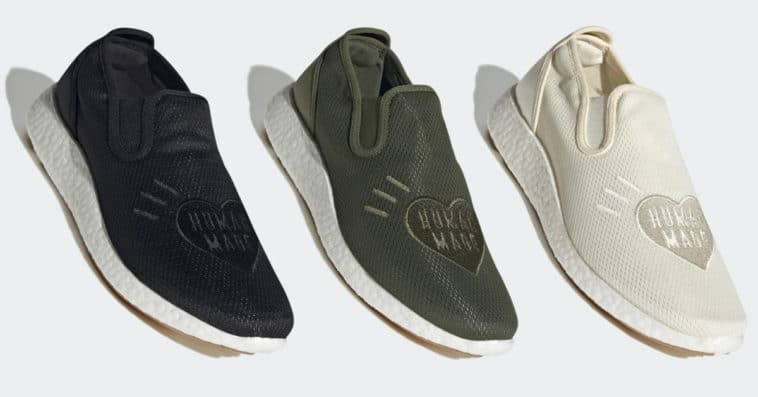 Adidas and Human Made team up for a Kung Fu-inspired slip-on shoe 15