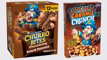Cap'n Crunch launches Chocolatey Churro Bites and Chocolate Caramel Crunch cereal 18