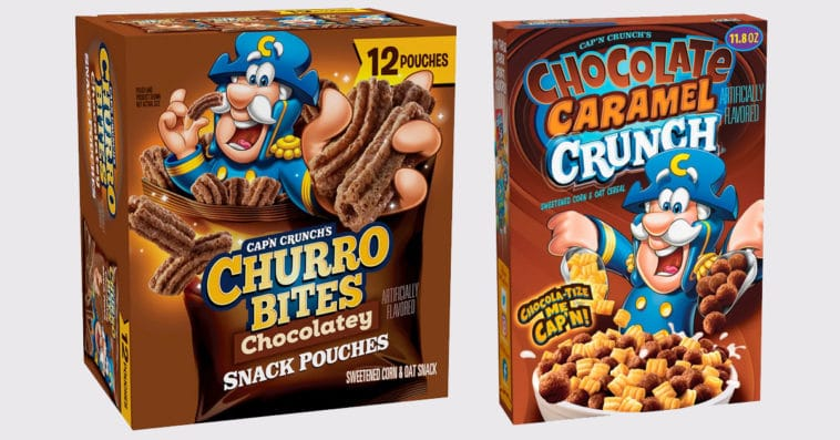 Cap'n Crunch launches Chocolatey Churro Bites and Chocolate Caramel Crunch cereal 15