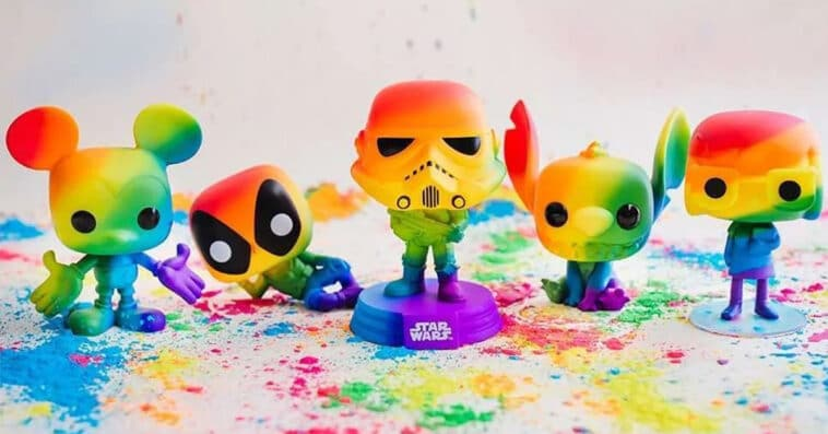 Funko's 2021 Pride Pop! collection includes Deadpool, Mickey Mouse, and Stitch 15