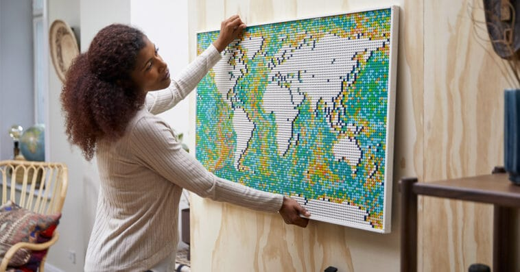 LEGO Art World Map helps fans reminisce about past travels and plan new trips 15