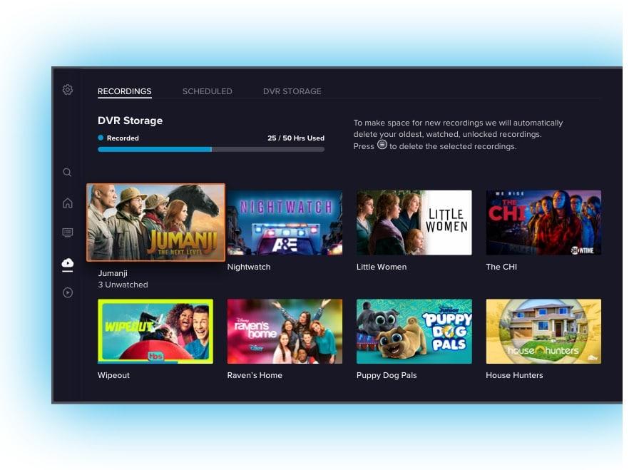 Sling TV app DVR
