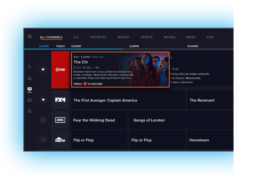 Sling TV app Reimagined Guide