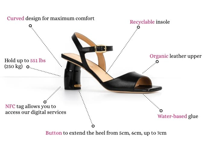 Trilly Shoes adjust to three heel heights with the click of a button 16