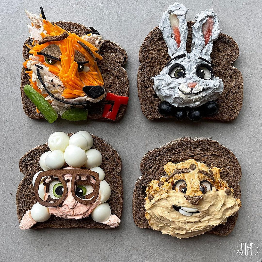 Mom turns her kid's lunches into edible pop culture icons 39
