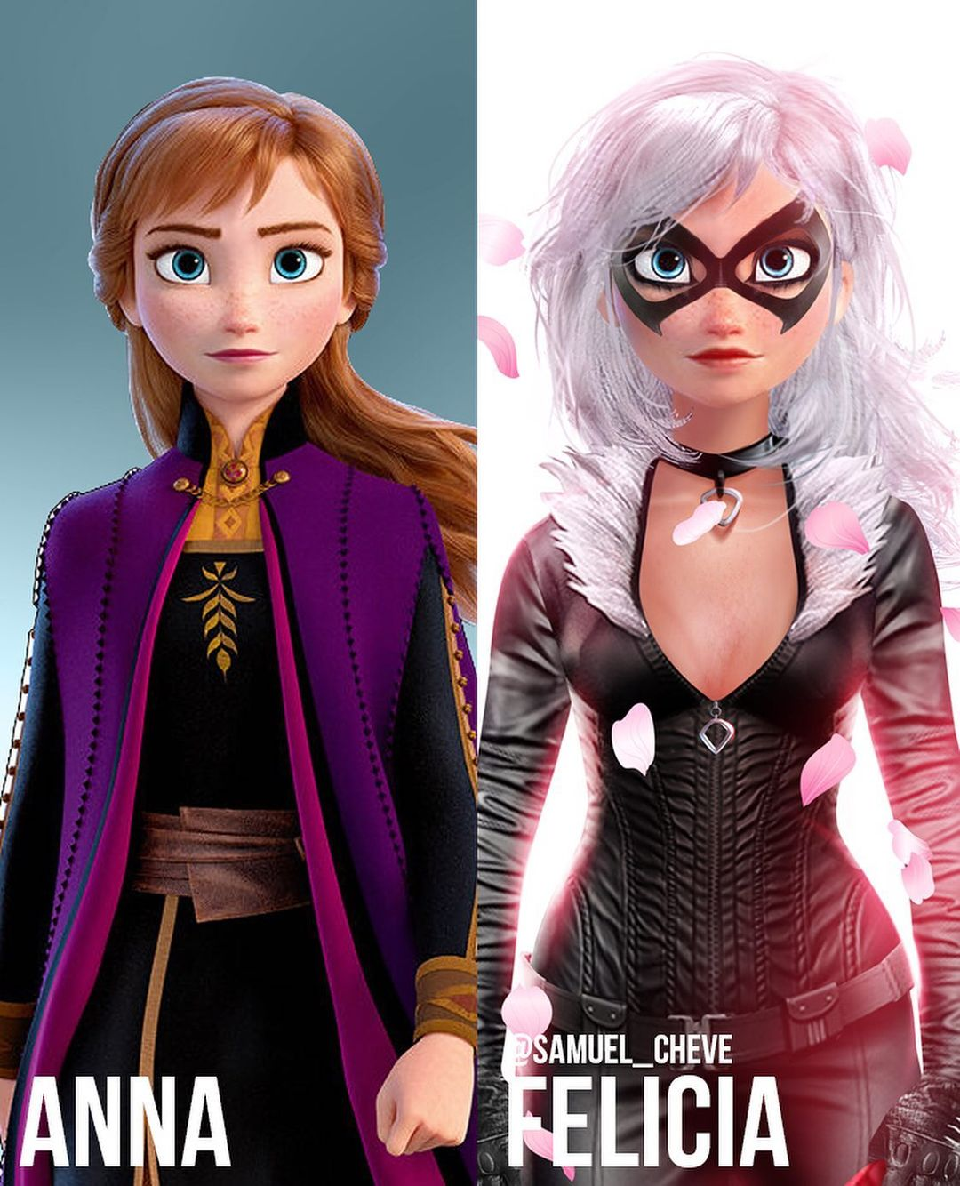 Disney characters reimagined as Marvel and DC icons 35