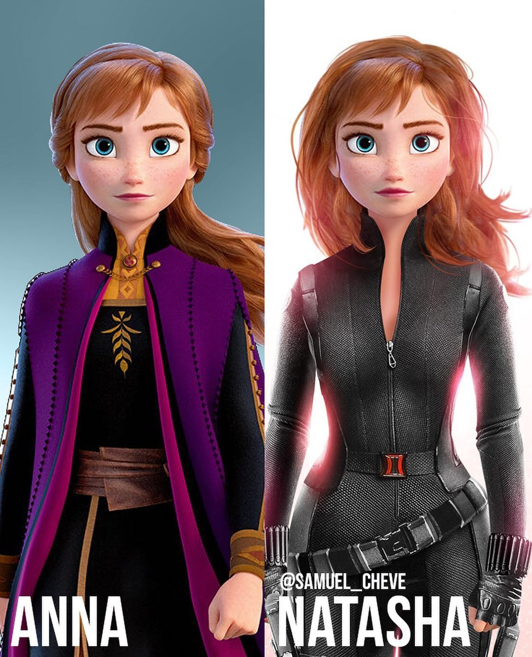 Disney characters reimagined as Marvel and DC icons 19