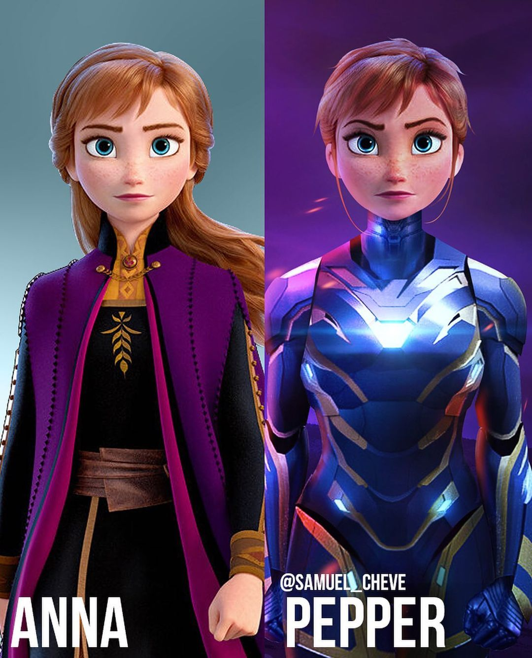 Disney characters reimagined as Marvel and DC icons 47