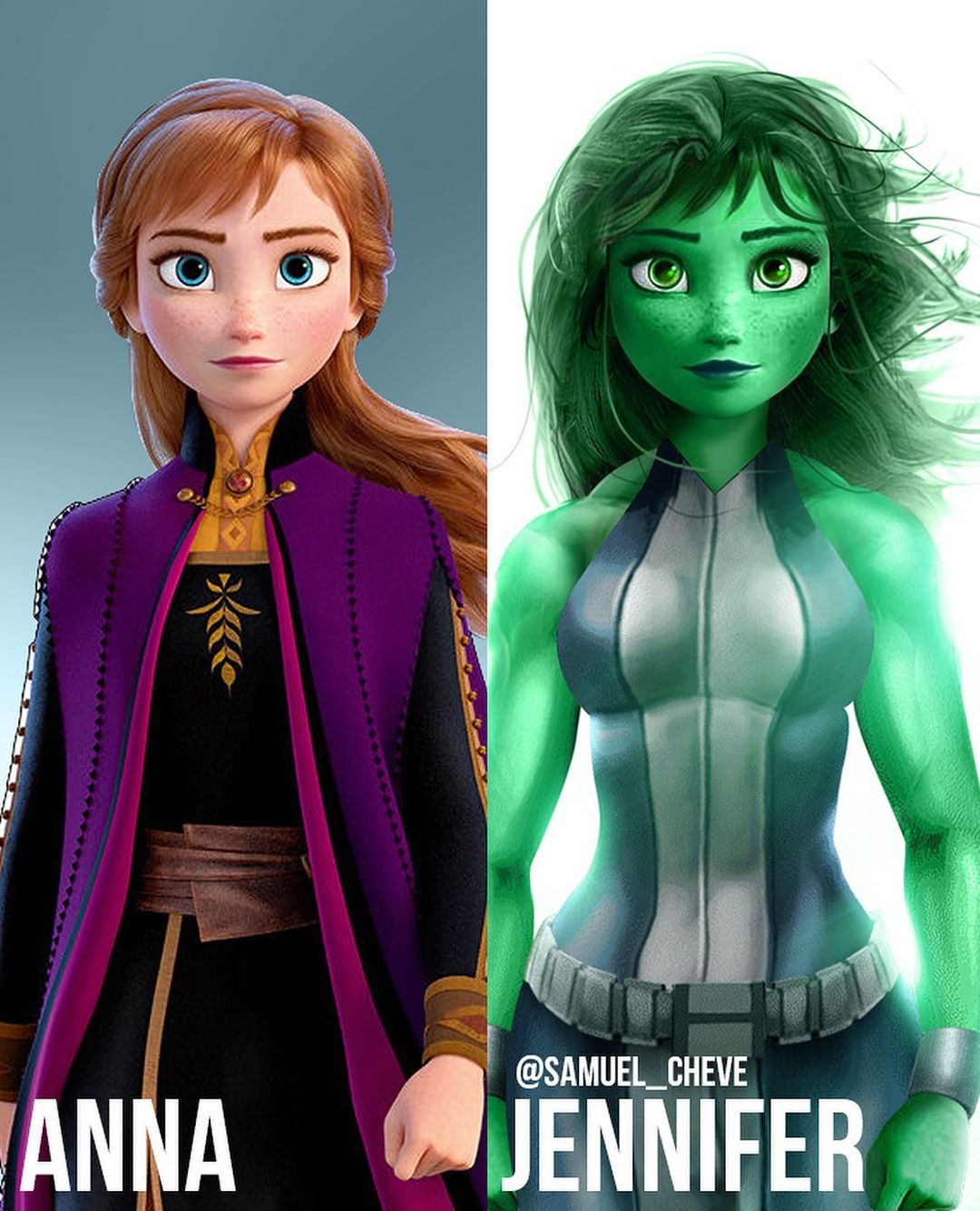 Disney characters reimagined as Marvel and DC icons 37