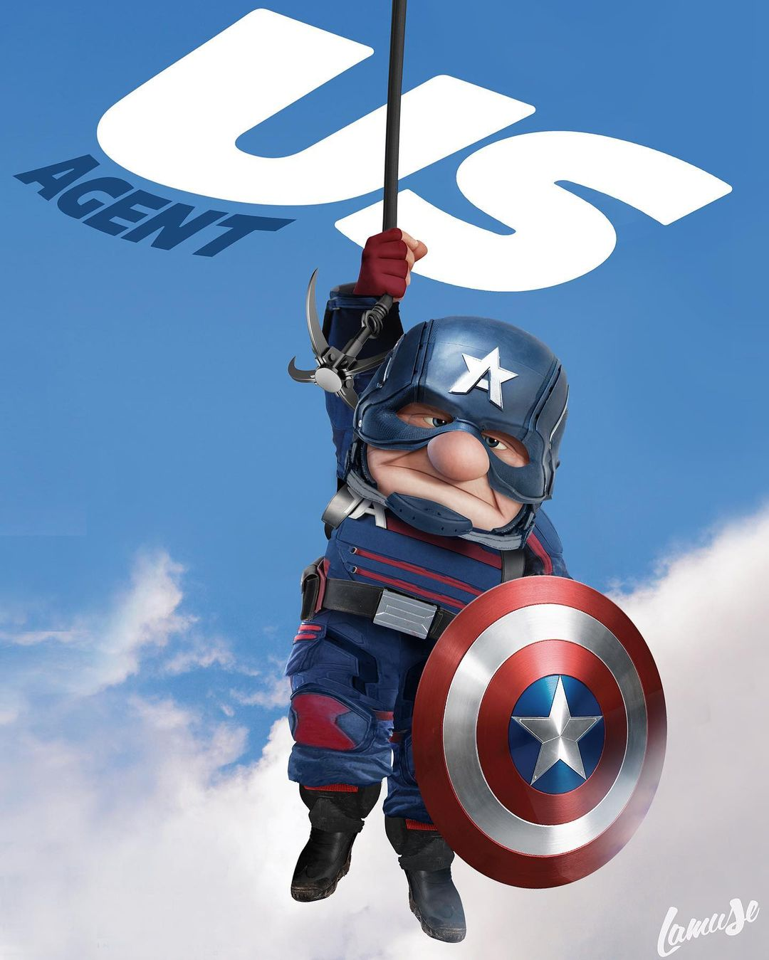 Disney characters reimagined as Marvel and DC icons 26