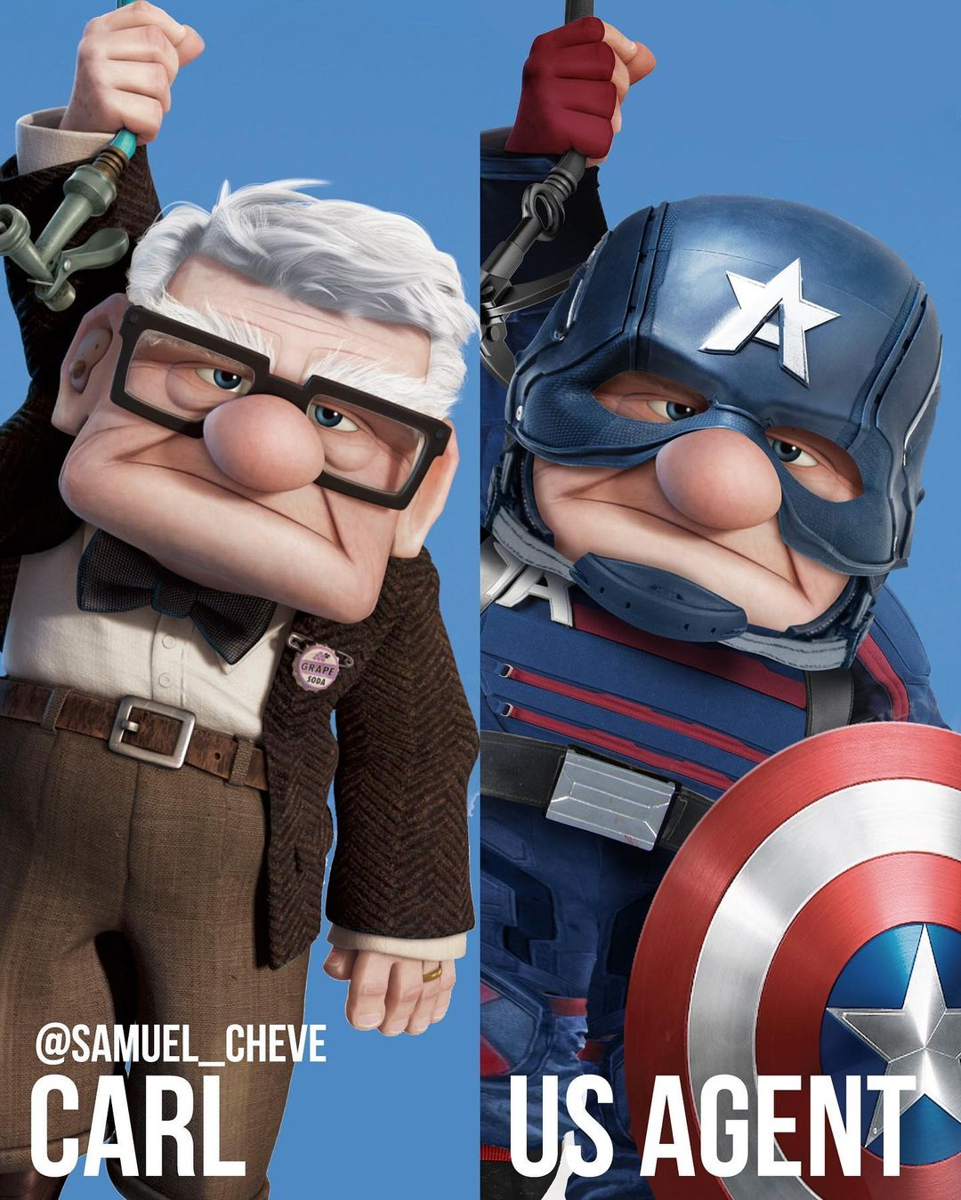 Disney characters reimagined as Marvel and DC icons 25