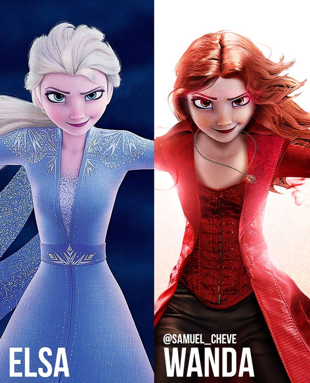 Disney characters reimagined as Marvel and DC icons 53