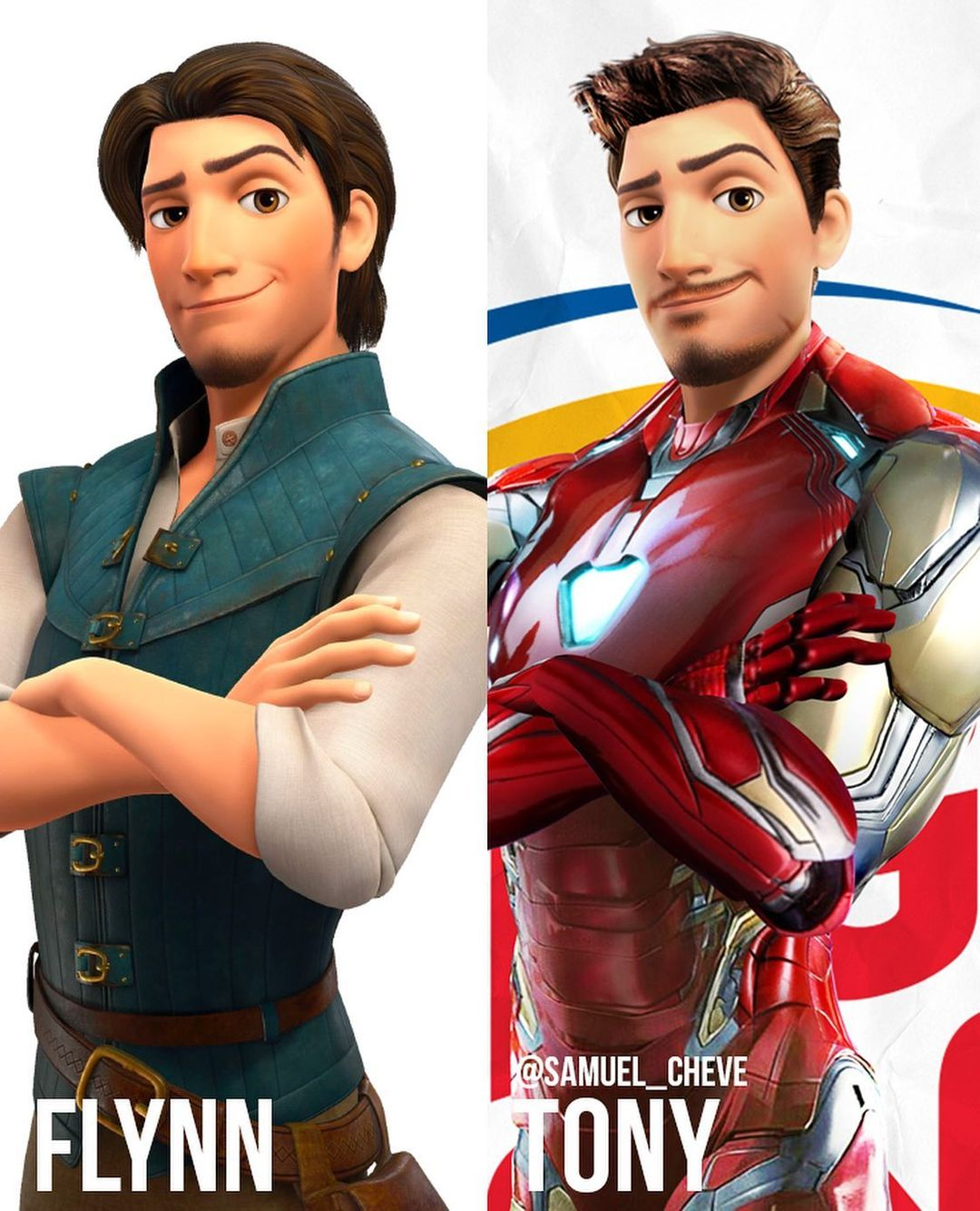 Disney characters reimagined as Marvel and DC icons 55