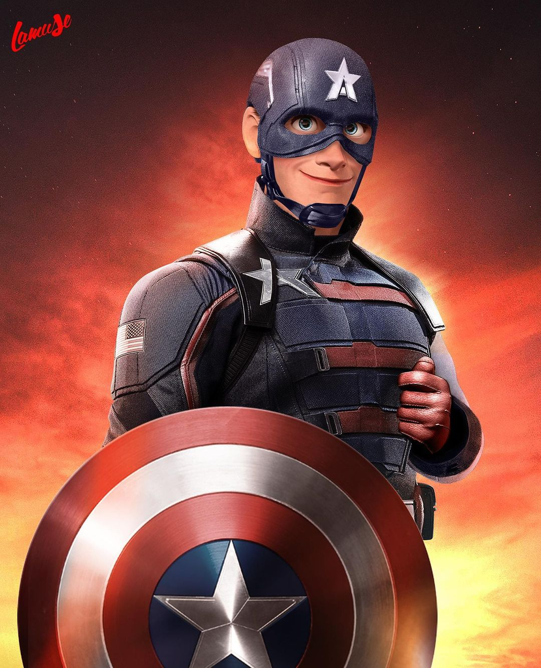 Disney characters reimagined as Marvel and DC icons 24