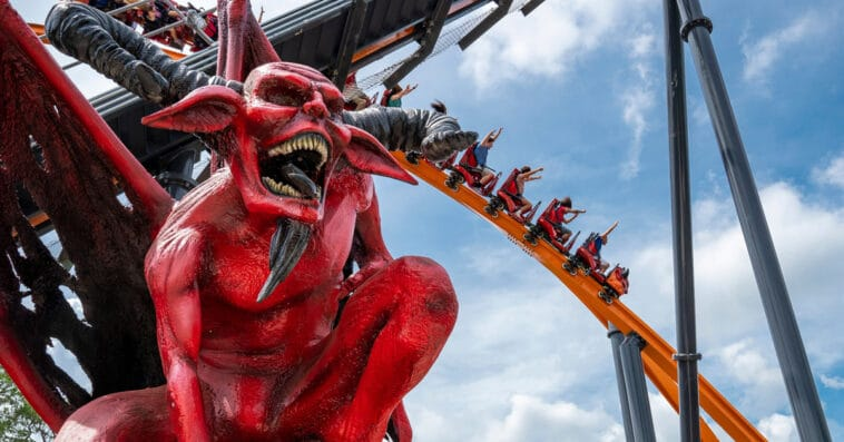 The world's tallest single-rail coaster is now open at Six Flags Great Adventure 14