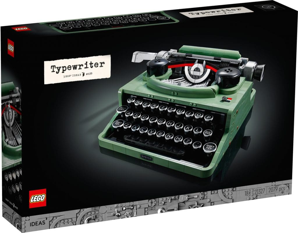 LEGO unveils a typewriter set with moving keys and carriage 17