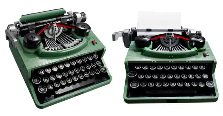 LEGO unveils a typewriter set with moving keys and carriage 15