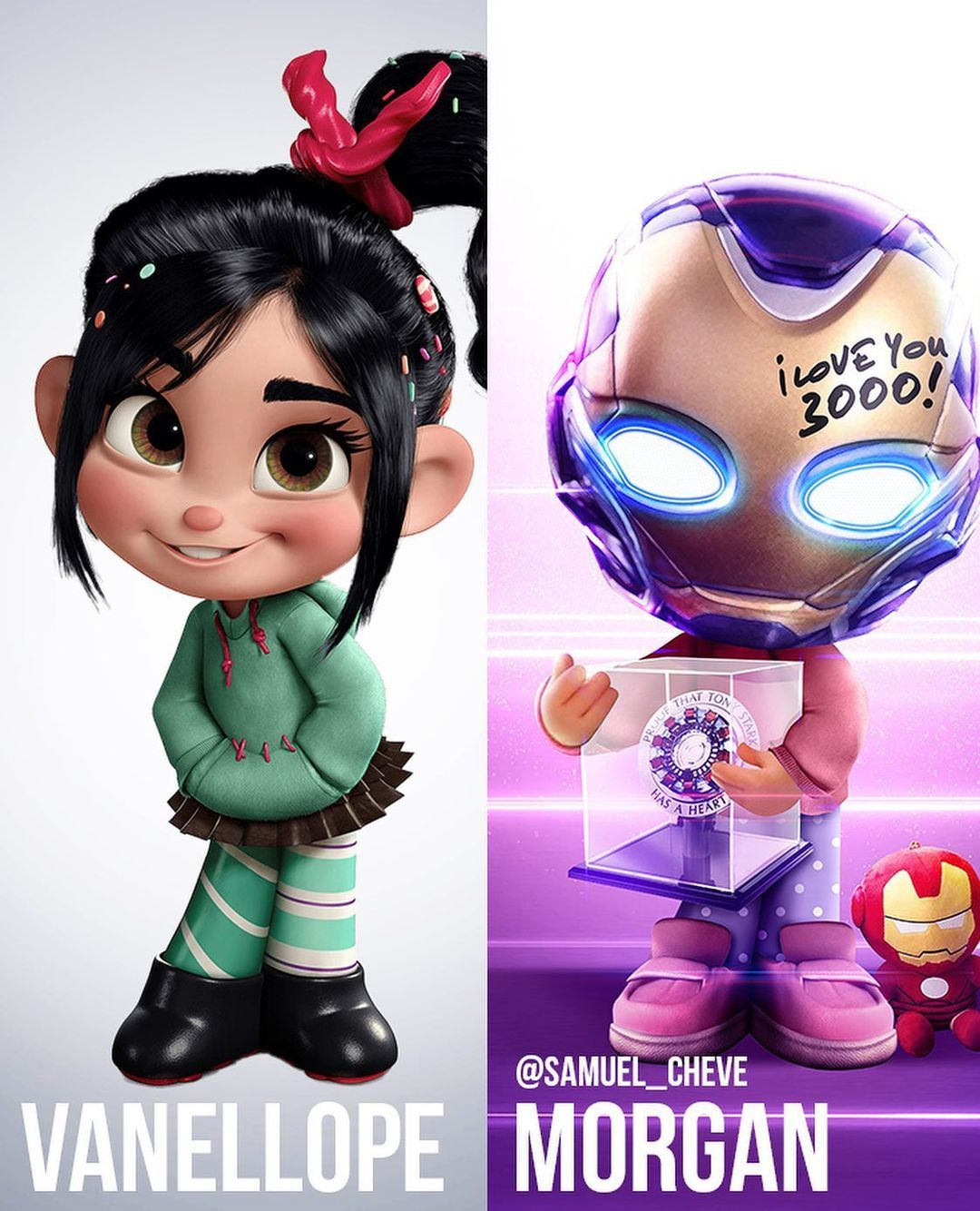 Disney characters reimagined as Marvel and DC icons 59