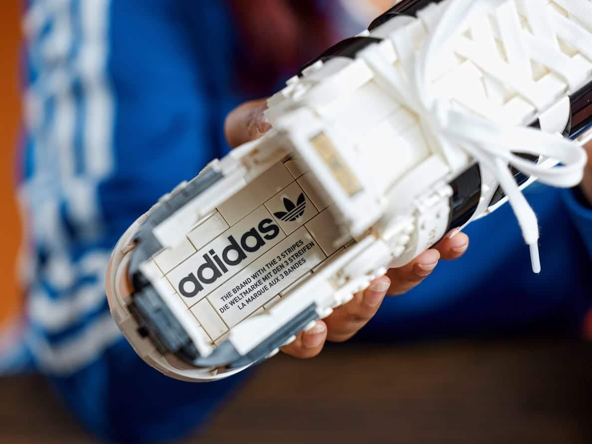 LEGO releases a buildable model of Adidas Originals Superstar 19