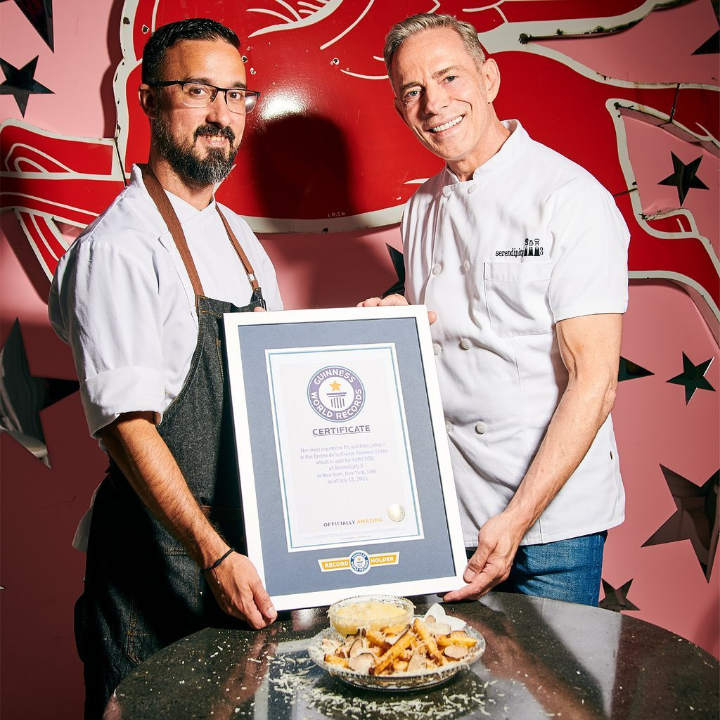 NYC restaurant sets Guinness World Record for most expensive French fries 18