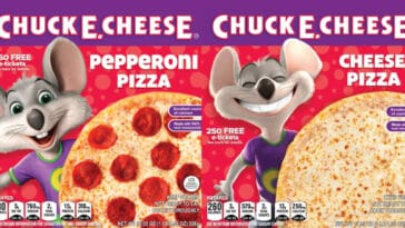 Chuck E. Cheese frozen pizzas are now available at Kroger 22