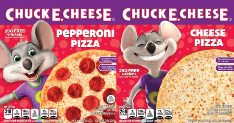 Chuck E. Cheese frozen pizzas are now available at Kroger 13