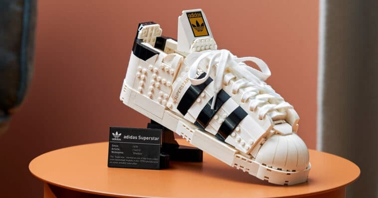 LEGO releases a buildable model of Adidas Originals Superstar 16