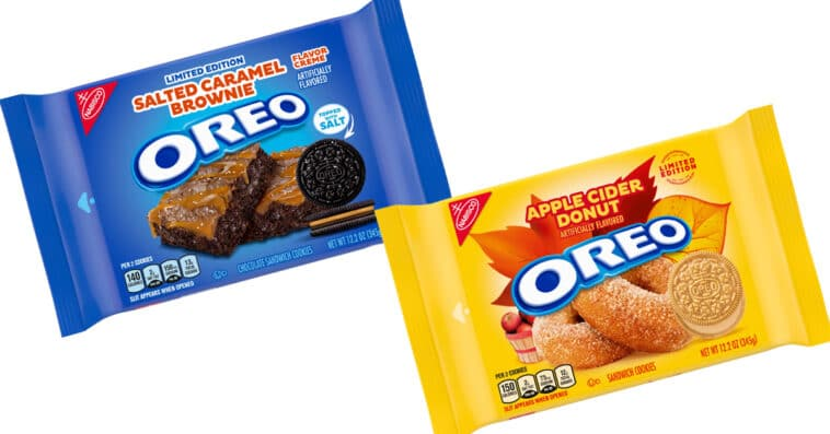 Oreo is releasing salted caramel brownie and apple cider donut flavors 16