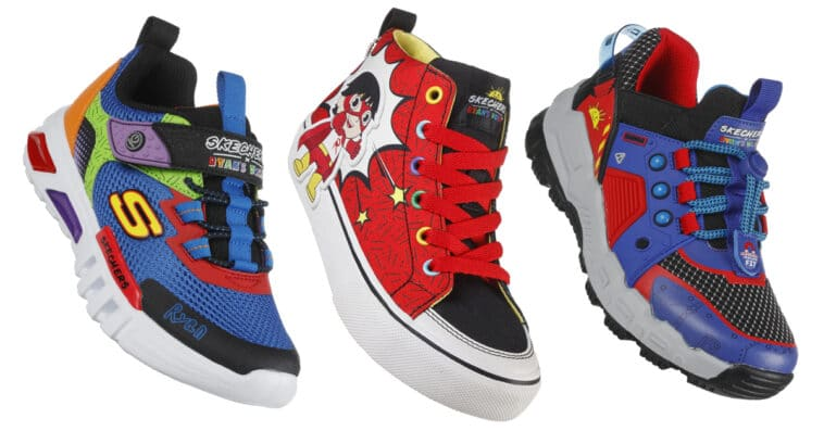 Skechers and Ryan's World YouTube channel collab for a shoe collection for kids 14