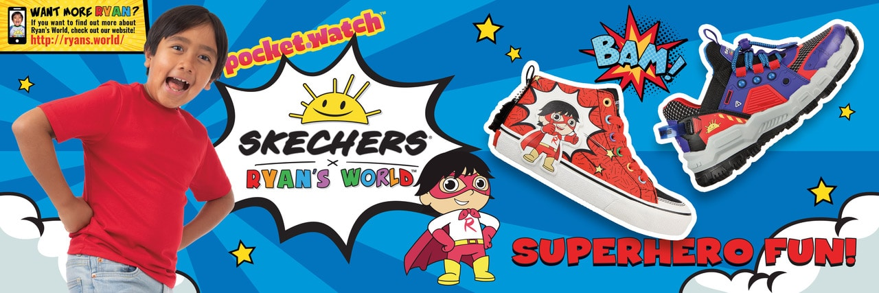 Skechers and Ryan's World YouTube channel collab for a shoe collection for kids 15