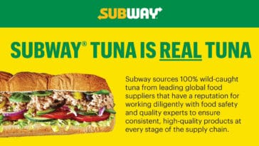Subway reiterates that its tuna is real in a new website 21