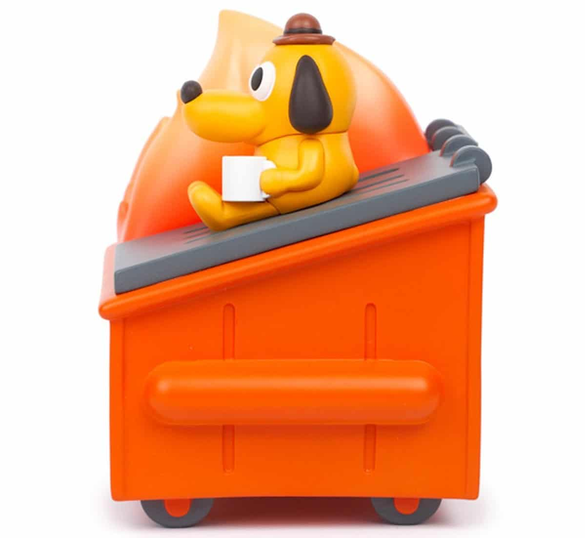 Dumpster Fire meets This is Fine dog in this adorable vinyl figure 18