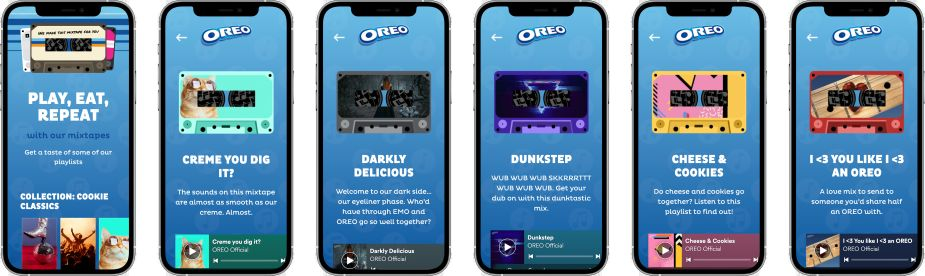 Oreo's 'Press Play to Win' campaign lets fans share online mixtapes with friends 17