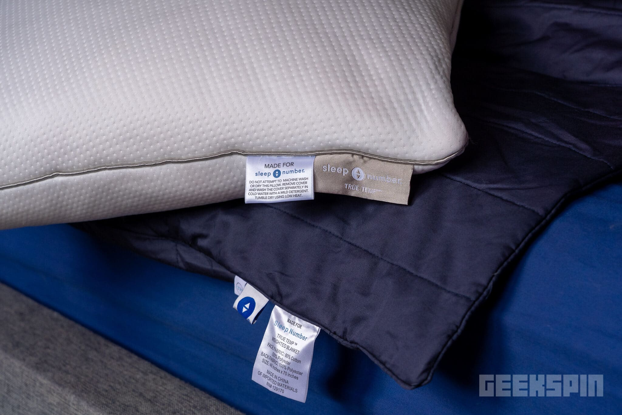 Sleep Comfort True Temp Pillow and Weighted Blanket