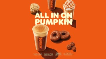 Dunkin' Donuts is kicking off the fall season with Pumpkin Cream Cold Brew 20