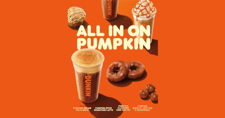 Dunkin' Donuts is kicking off the fall season with Pumpkin Cream Cold Brew 16