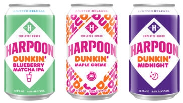 Harpoon Brewery is releasing 3 new Dunkin' Donuts-inspired beers for fall 17