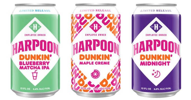 Harpoon Brewery is releasing 3 new Dunkin' Donuts-inspired beers for fall 16