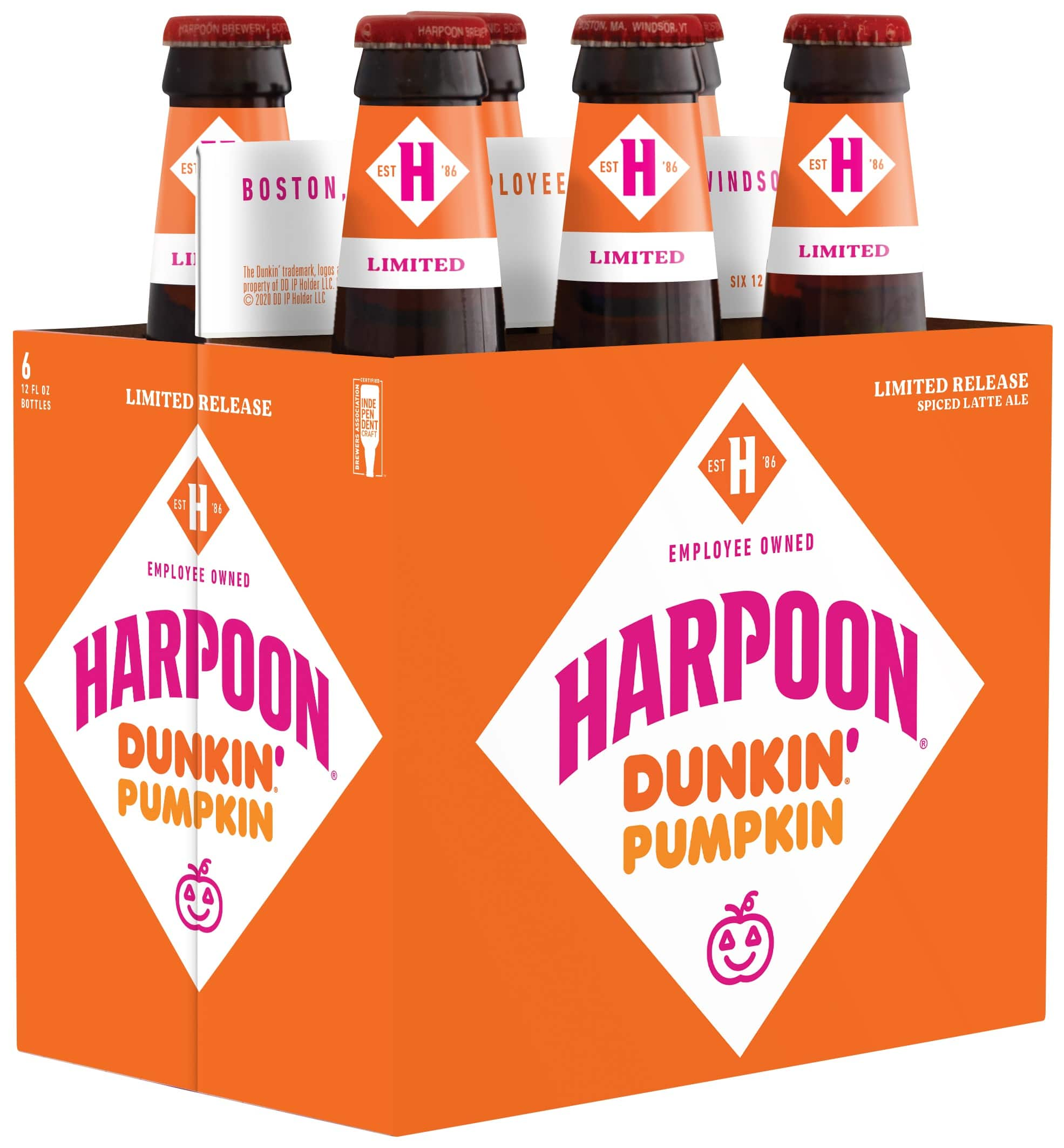 Harpoon Brewery is releasing 3 new Dunkin' Donuts-inspired beers for fall 20