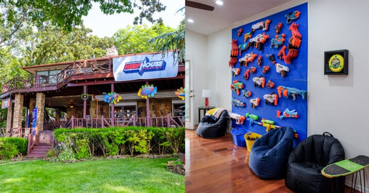 Hasbro and Vrbo are renting out a Nerf-themed lake house to one lucky family 16