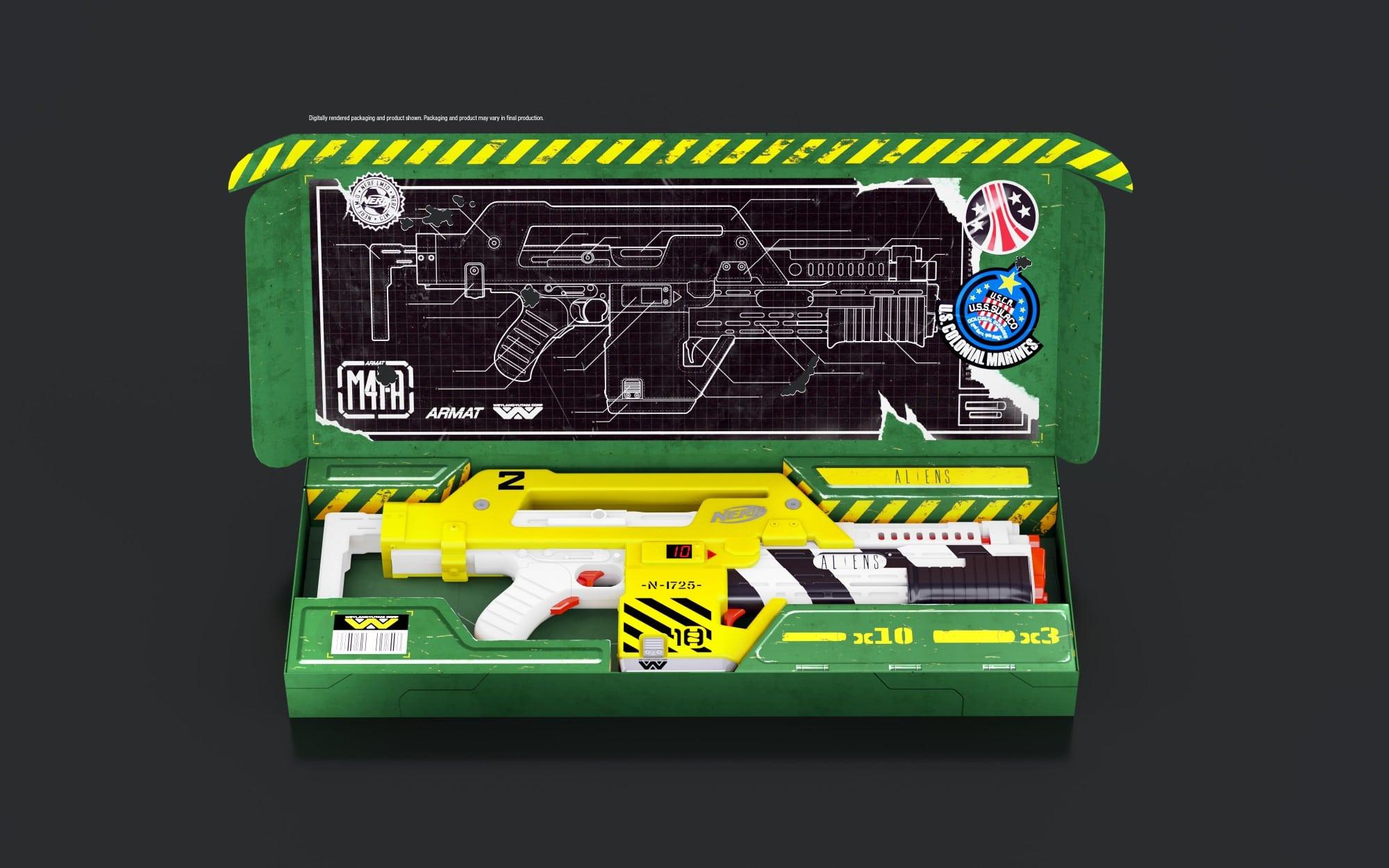 Hasbro creates a Nerf blaster based on the sci-fi film Aliens 22