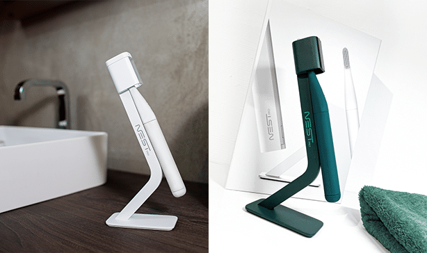 The Nest Brush is a toothbrush with its own UV-C sterilizer 19